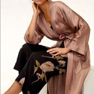 Wilfred Pillier Silk/Viscose Duster Robe, M